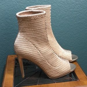 BCBGeneration Jane Quilted Peep Toe Ankle Boot